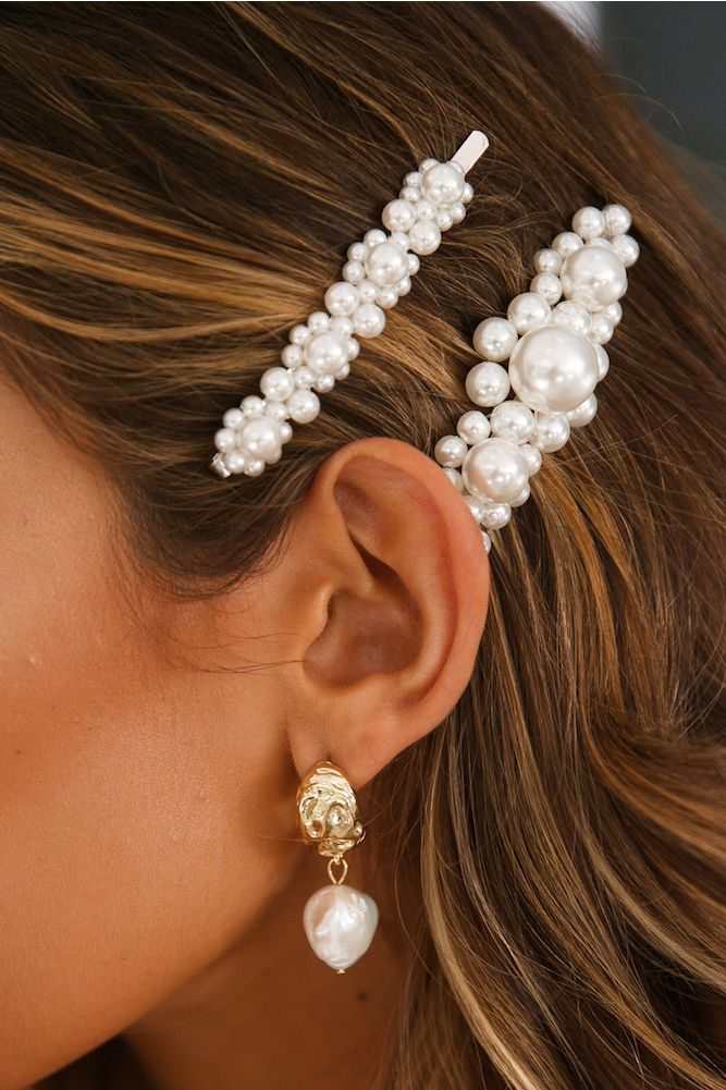Be A Pearler Hair Pin White #flapperhair