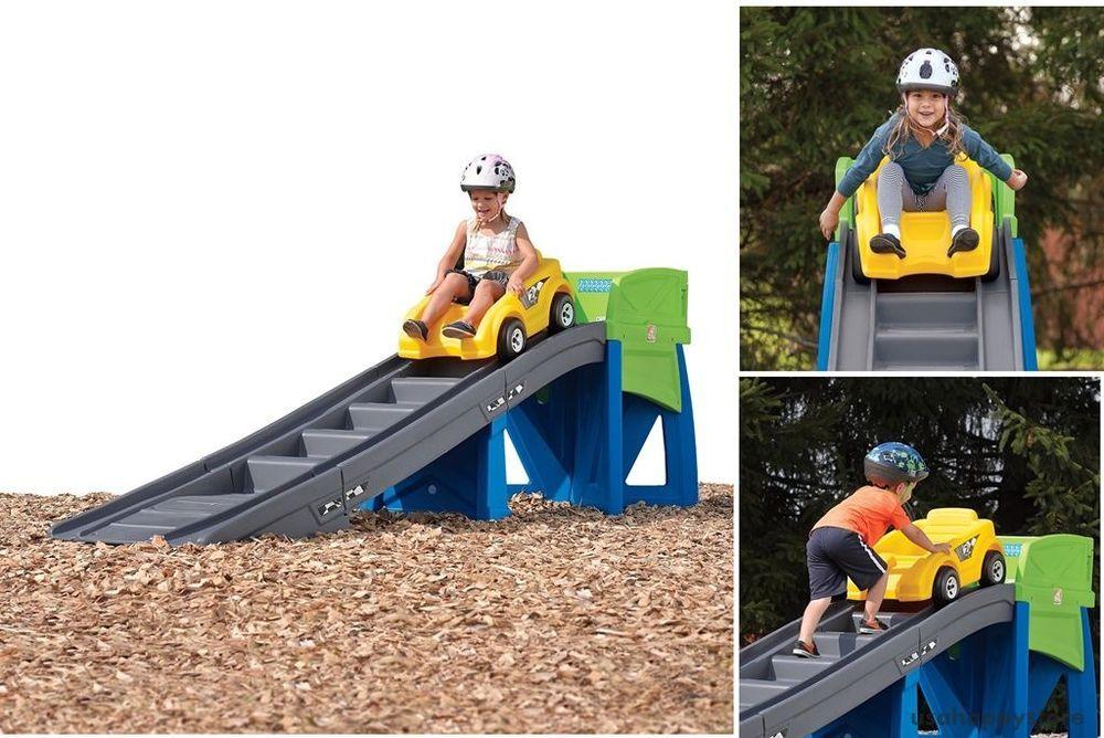 Step2 Outdoor Toys Playground Coaster Car Ride On Slide Ramp Kids Backyard Fun Kids Backyard Fun Kids Indoor Playground Outdoor Toys