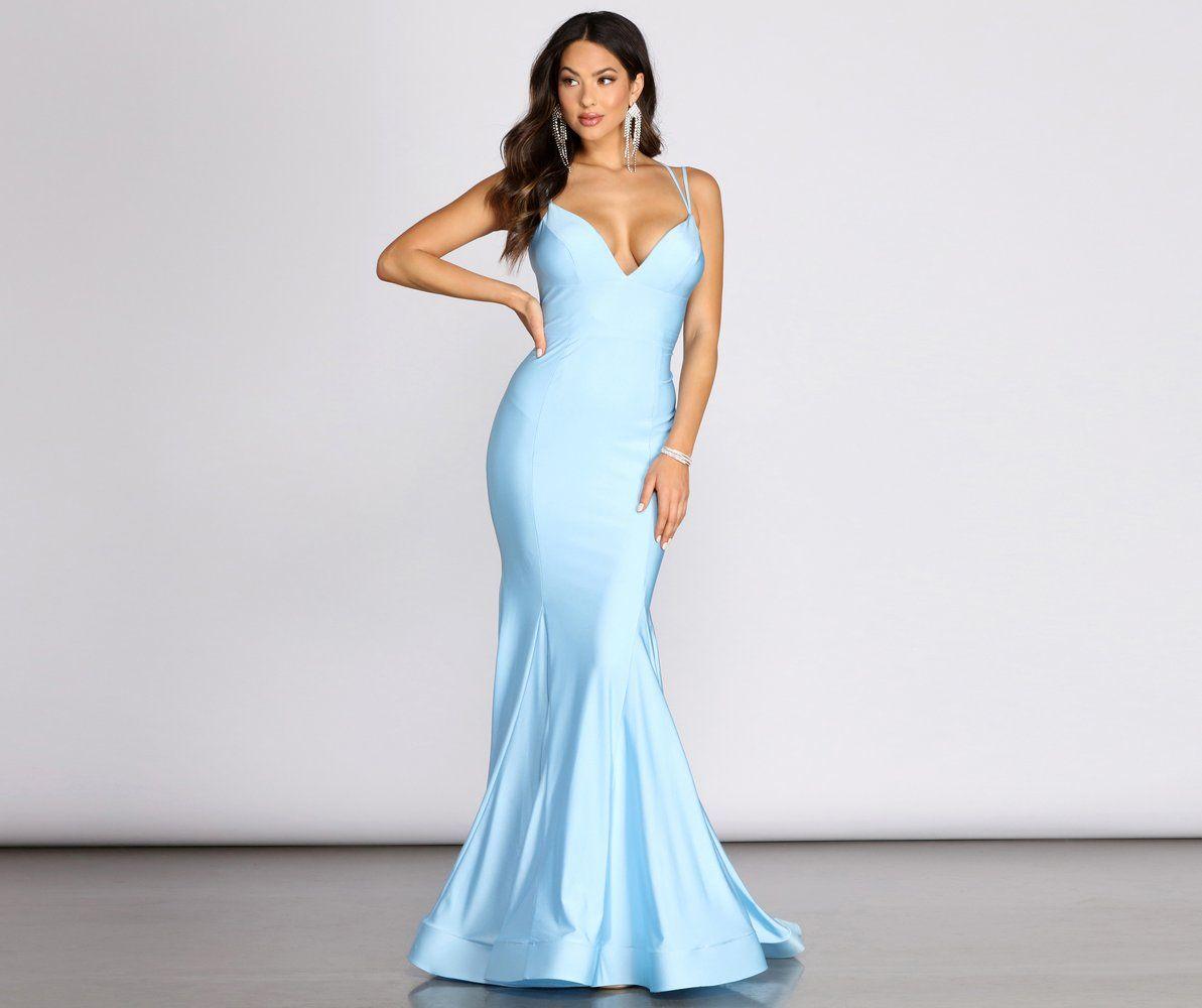 Mikerra Lace Up Back Mermaid Dress Prom Dresses Long Blue Blue Mermaid Prom Dress Baby Blue Bridesmaid Dresses [ 1000 x 1193 Pixel ]