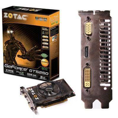Geforce GTS250 512MB DDR3 by Zotac. $98.39. ZOTAC GeForce ...