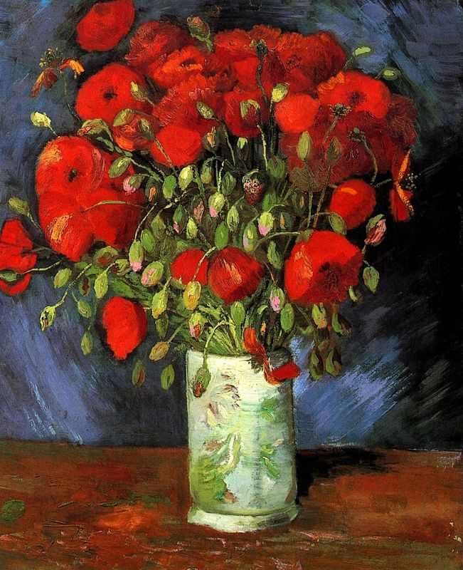 Art Vincent Van Gogh Vase With Red Poppies Mohnblumen Kunst Van Gogh Gemalde Mohn Rot