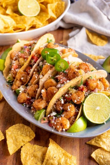 Jerk Shrimp Tacos with Pineapple Salas #jerkshrimp