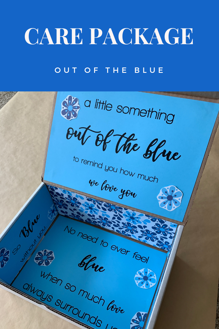 Care Package: Out of the Blue | My Inspiration Corner