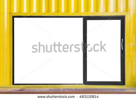 Close up empty blank space of Aluminium door and window frame on ...