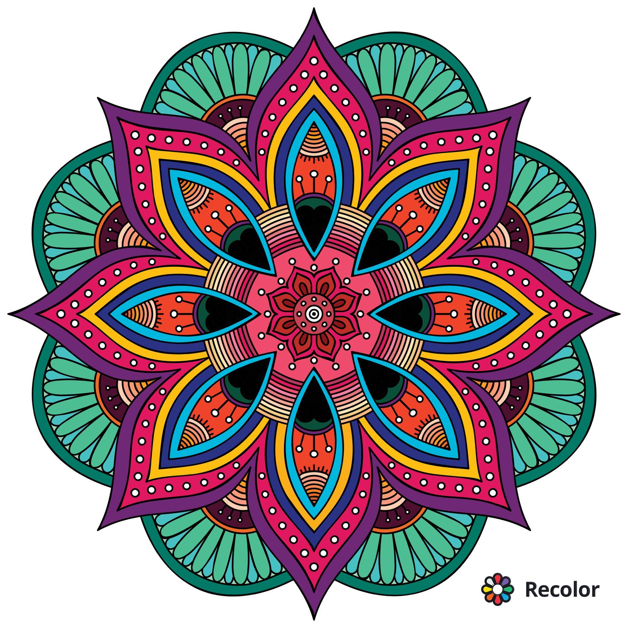 Recolor App Arte De La Geometría Sagrada Mandala Art Mandalas Pintadas