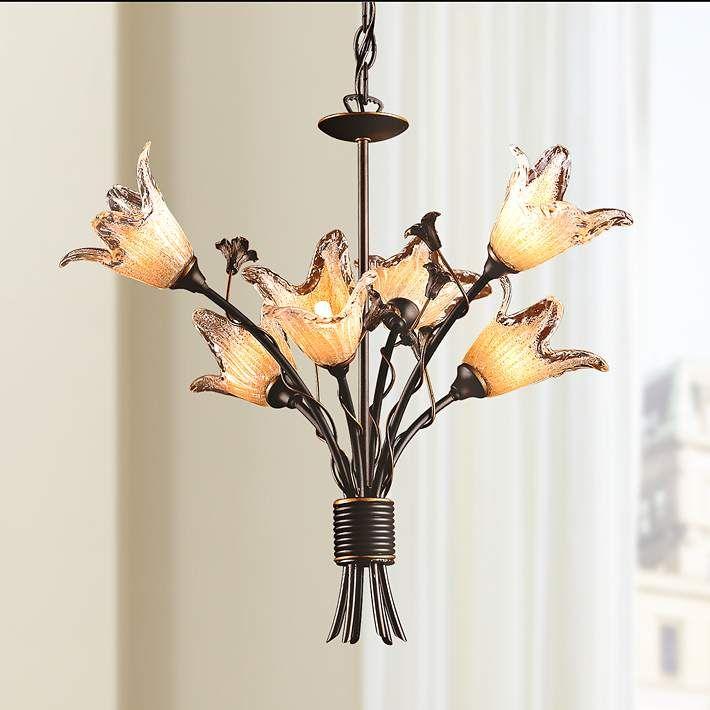"Fioritura Collection 22"" Wide 6-Light Tulip Glass ..."
