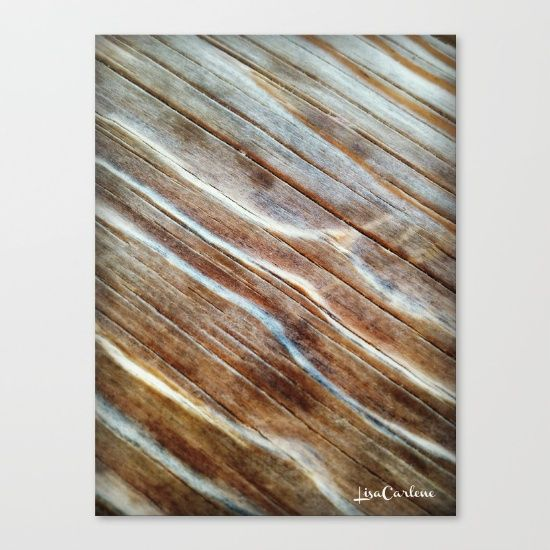 "Wooden Waves by LisaCarlene Designs for sale @society6. Fine art print on bright white, fine poly-cotton blend, matte canvas using latest generation Epson archival inks. Individually trimmed and hand stretched museum wrap over 1-1/2"" deep wood stretcher bars. Includes wall hanging hardware."
