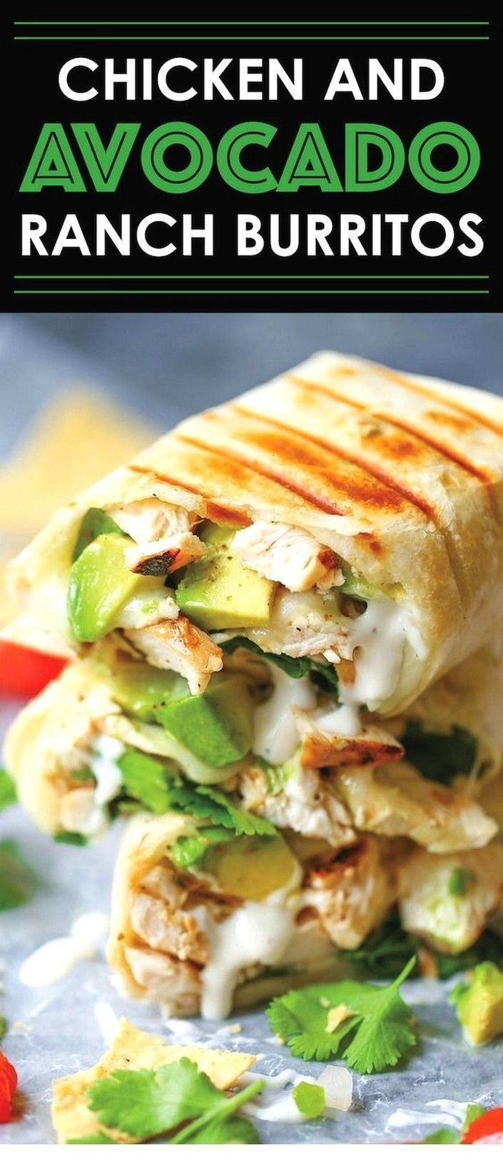 And Avocado Ranch Burritos | Avocado Recipes - Dinner - - Chicken And Avocado Ranch Burritos | Avoc