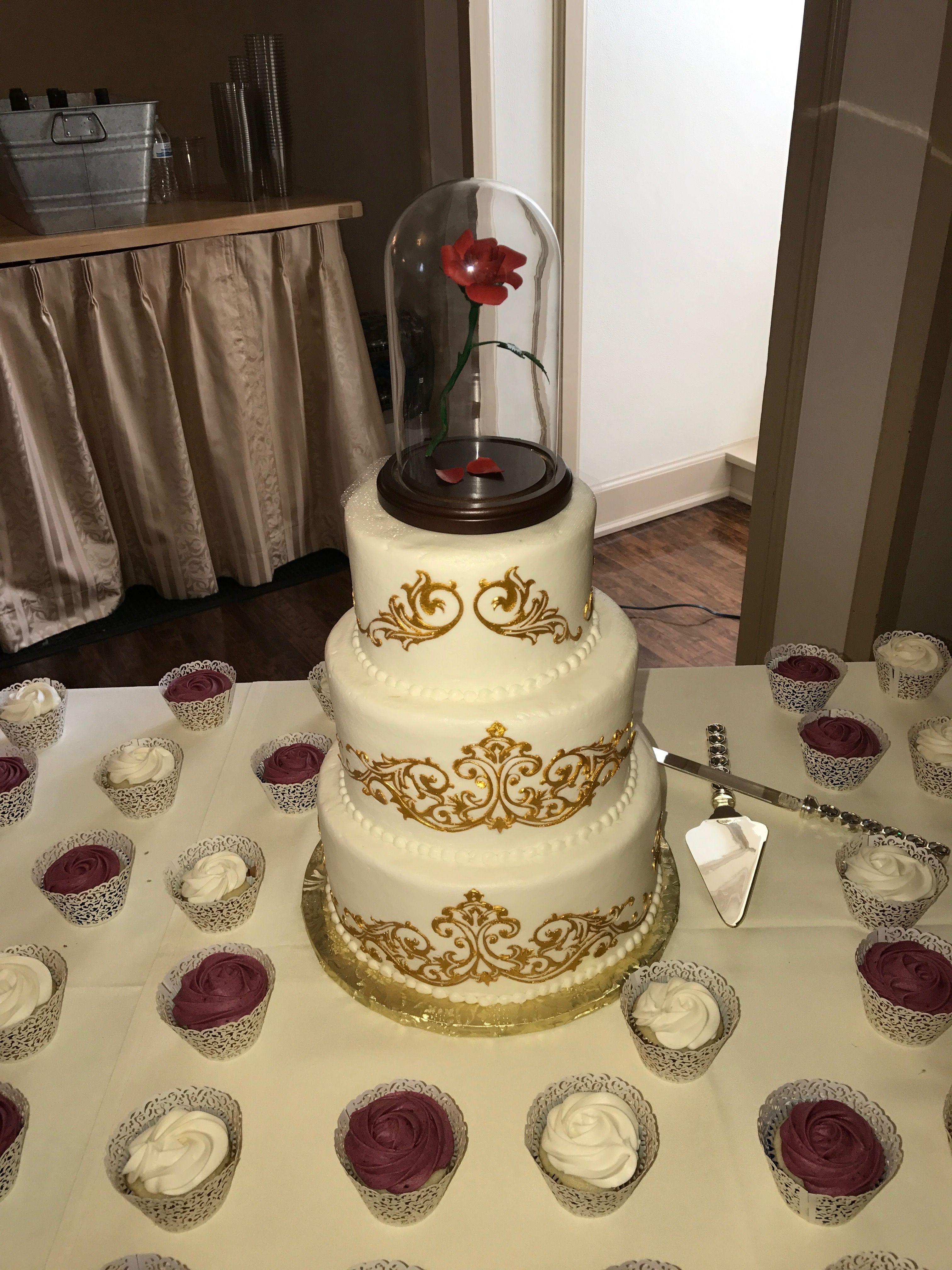 Beauty and The Beast Theme Wedding Cake #FeltEstate  #WeddingsAtFeltEstate