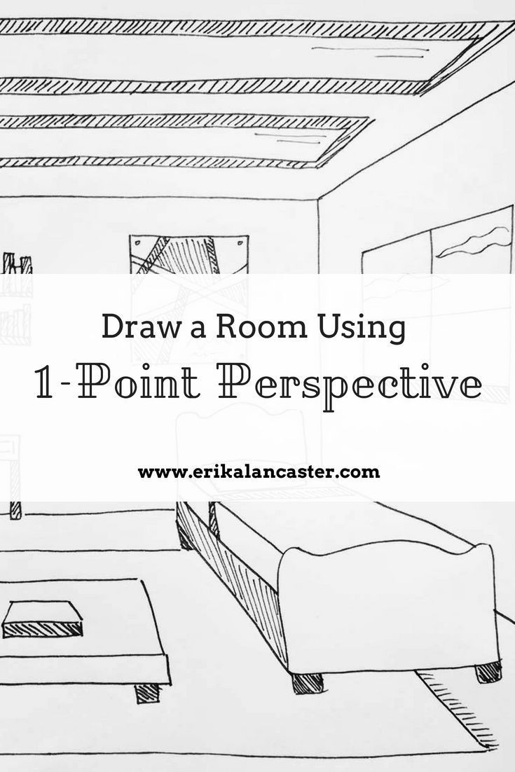 One Perspective Drawing Room: How To Draw A Room Using 1-Point Perspective To Create