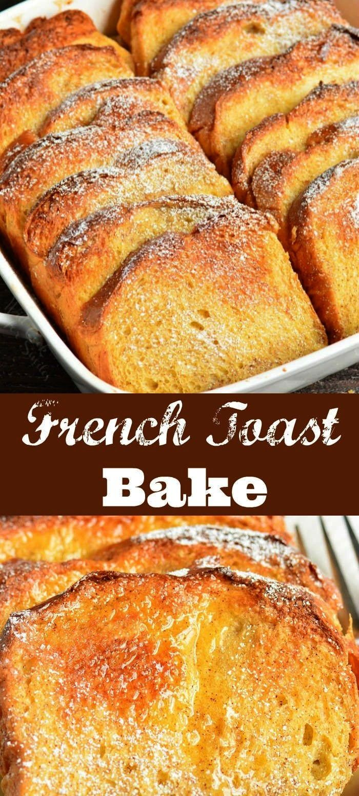Toast Bake recipe is made overnight with Brioche bread and sweet cinnamon egg mixture Easy to put it together the night before and pop it in the oven in the morningFrench...