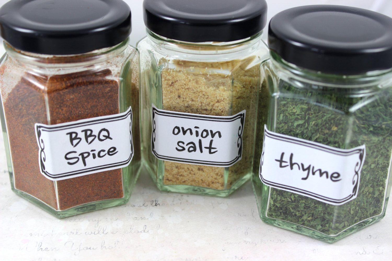 Kitchen Organisation Spice Jar Labels Funky Style Spice Labels Herb Labels Kitchen