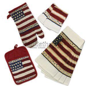 American Flag Patriotic 8 Piece Kitchen Towel