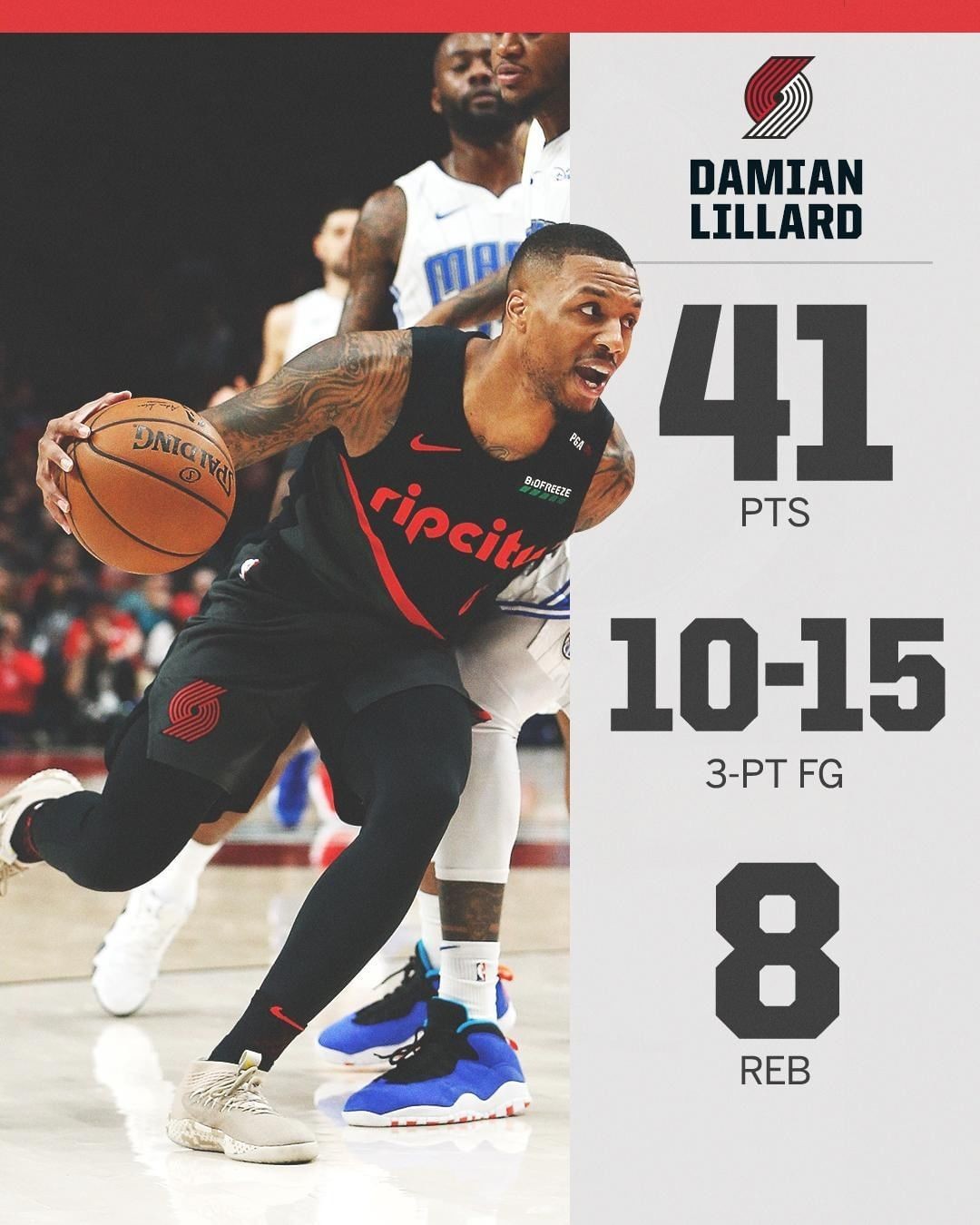 """NBA on ESPN on Instagram """"Dame was cooking from deep"""