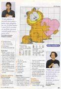 Schema punto croce Garfield 03