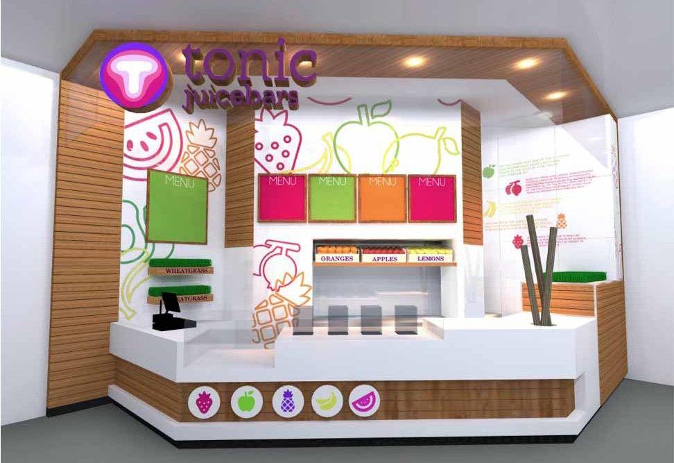 Tonic Juice Bar   Mall Of The Emirates   Dubai Interior Design Company  Studio EM