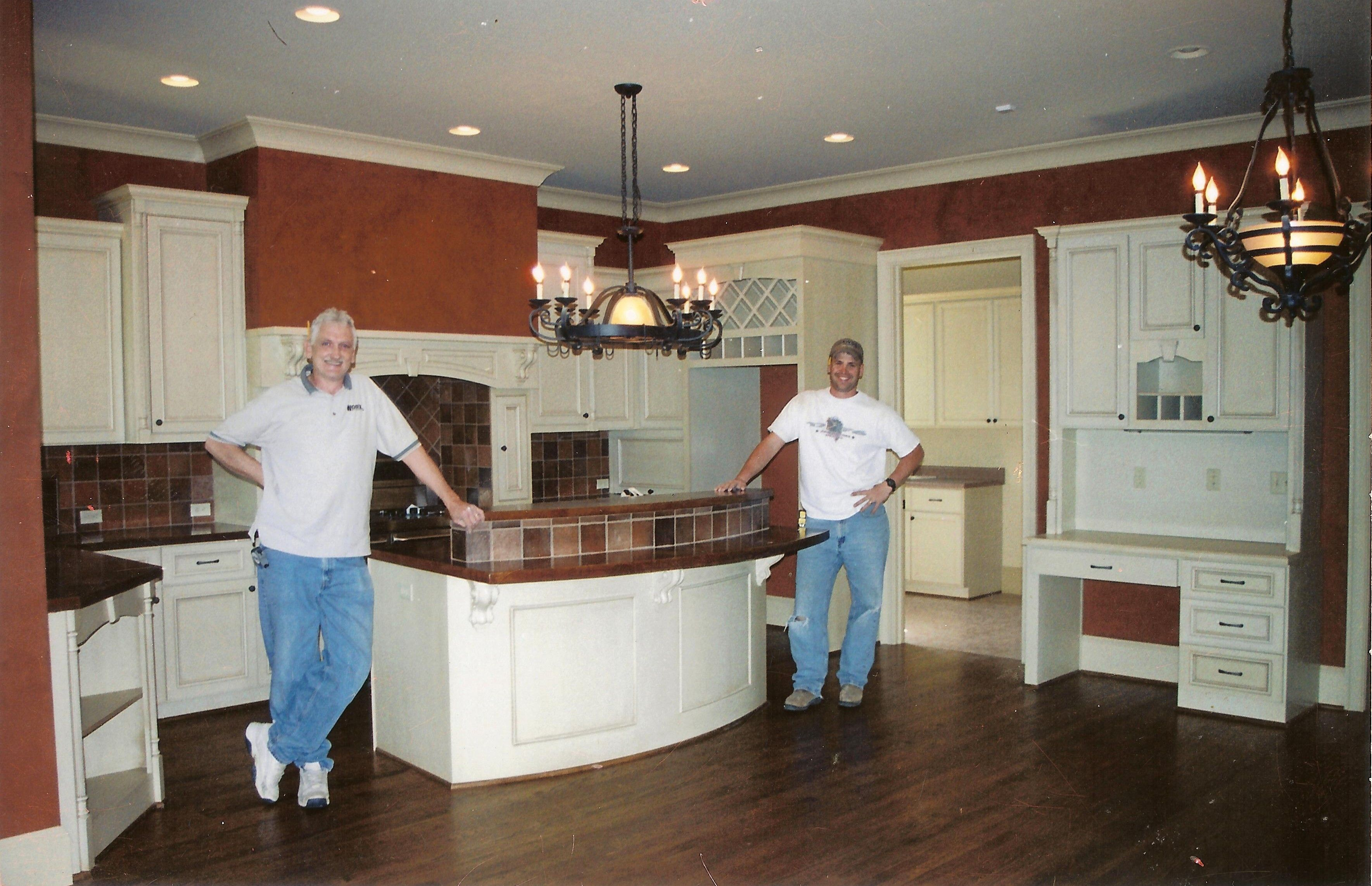 Harbor ridge kitchen done by woodworx for toulmin homes