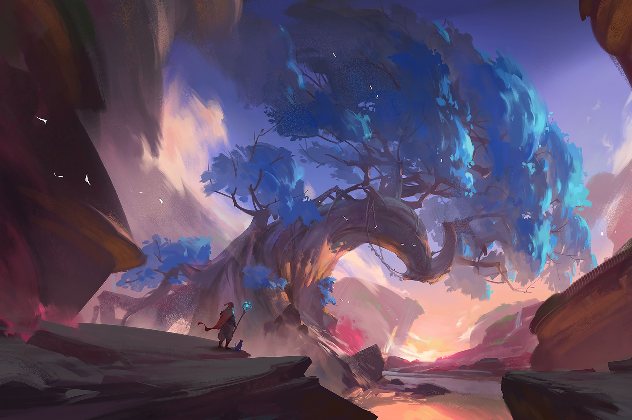 Artstation Some Project Concept Art Cailiang Zhao Landscape Concept Fantasy Landscape Landscape