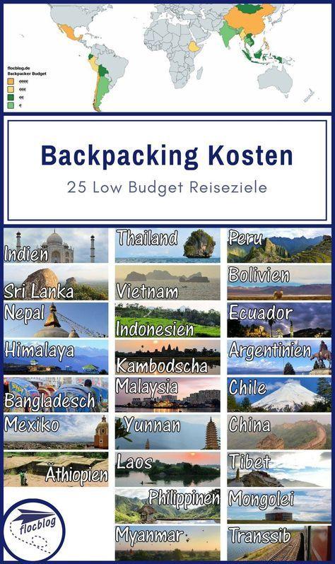 Beste Backpacker Länder: 25 Low Budget Reiseziele [+Kosten Vergleich]