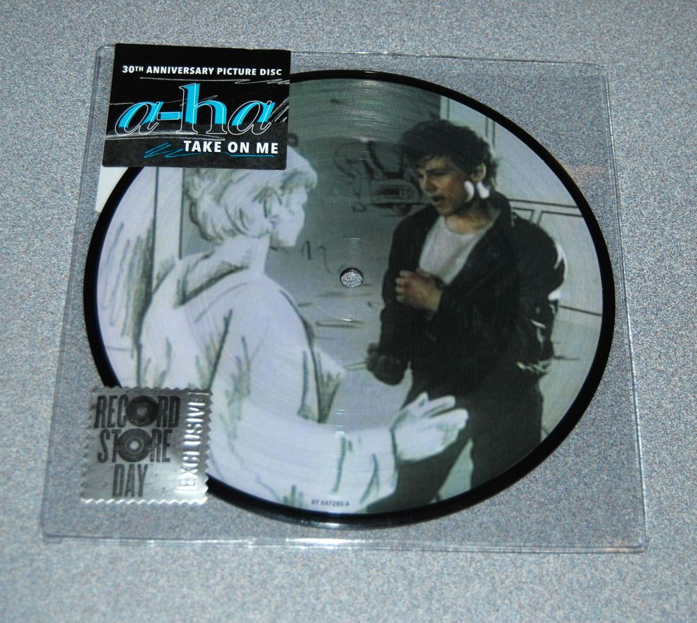 A Ha Take On Me 25th Anniversary Picture Disc Vinyl Record Store