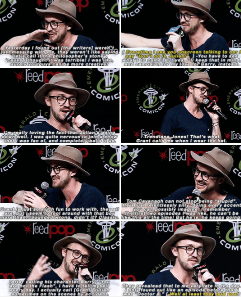 Tom Felton talks about The Flash at ECCC 2017 part 2