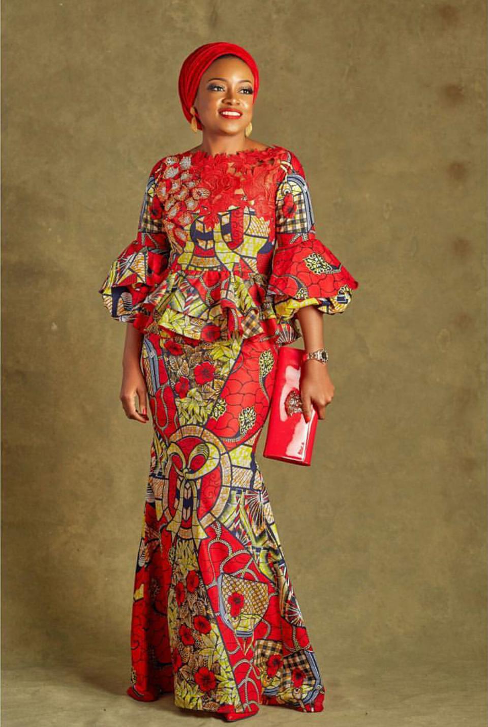 African Fashion Clothing, Ankara Style Print Wax Dress