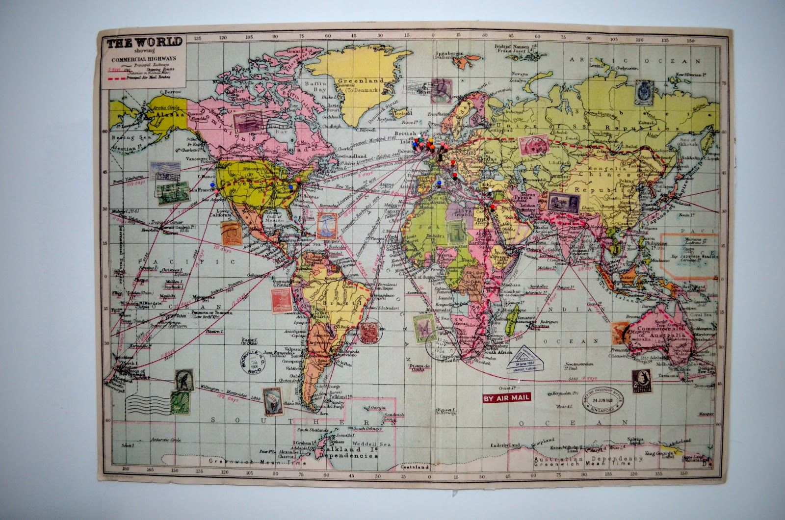 Diy world map pinboard mapsnroll pinterest pin boards diy world map pinboard sciox Choice Image