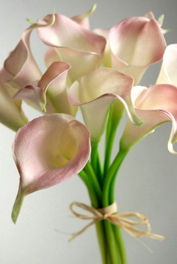 Calla Lily Bouquet Natural Touch Flowers Pink 12 Flowers Calla Lily Wedding Pink Calla Lilies Lily Bouquet Wedding