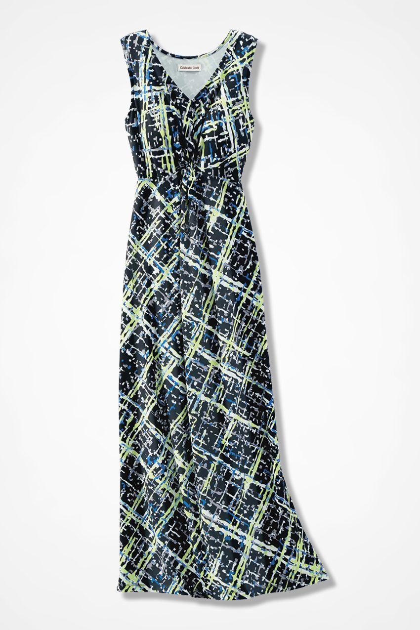 43052013ee Intersections Knot-Front Maxi Dress