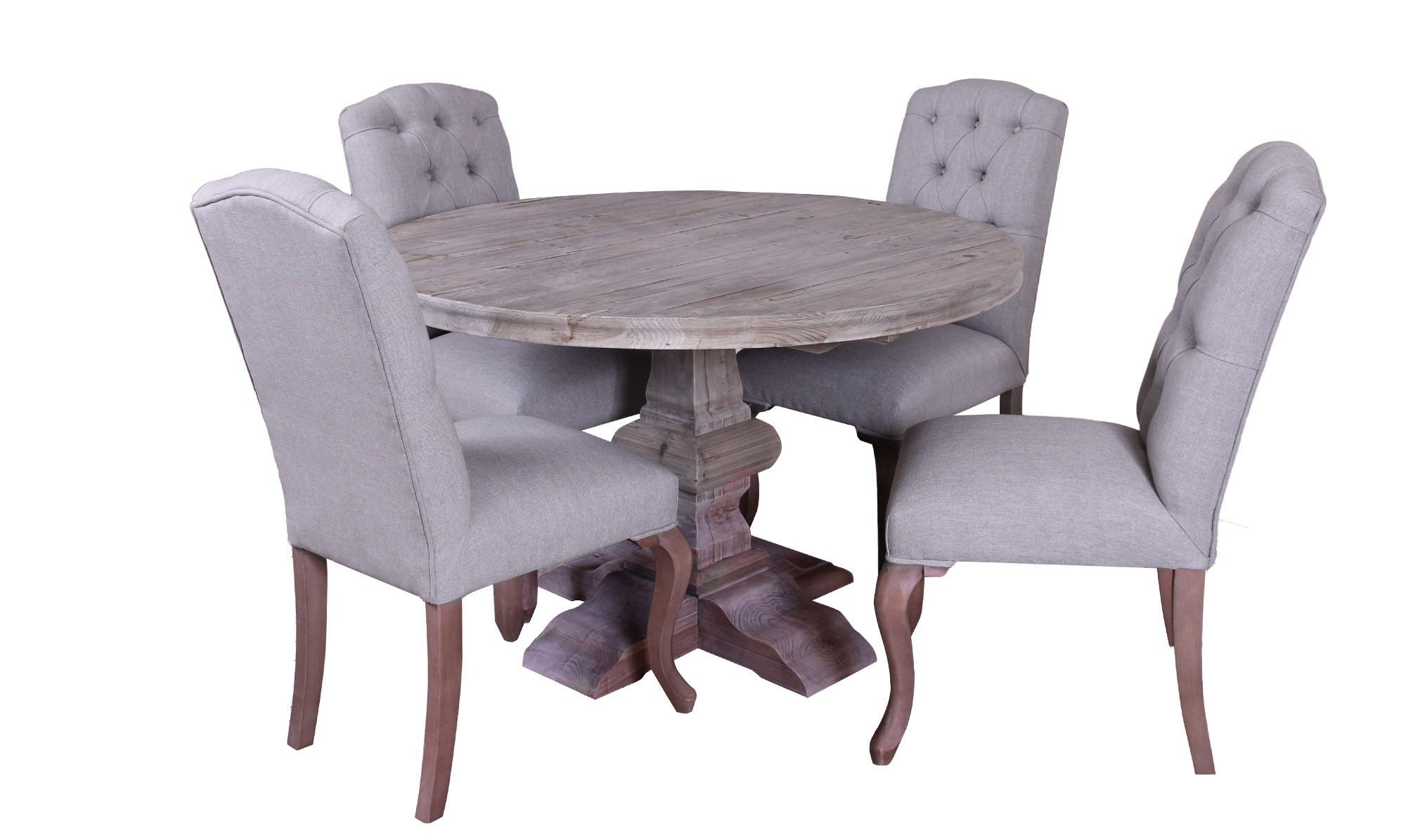 Lexington   Round Dining Table U0026 4 Button Back Chairs