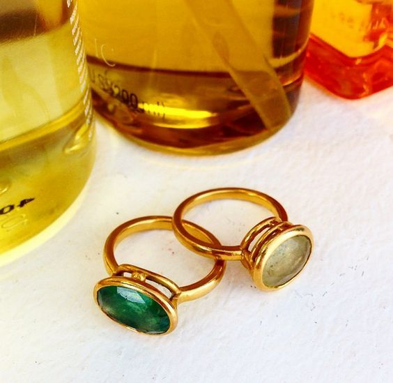Image result for lisa eldridge rings, yellow and green sapphire (maybee  havee the yellow