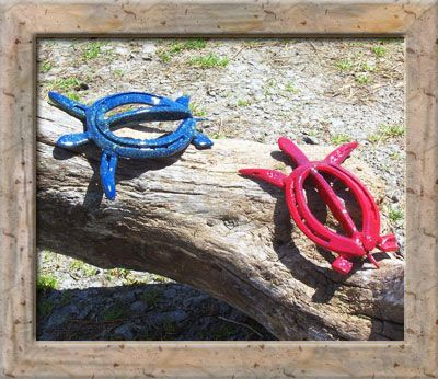 Marks custom horseshoe art for sale gardens and outdoor for Horseshoe crafts for sale