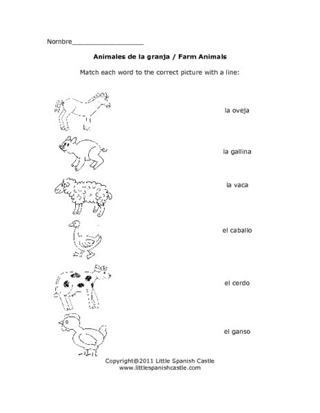Animales De La Granja Kindergarten 3rd Grade Worksheet Kindergarten Worksheets Kindergarten Worksheets Printable Spanish Lessons For Kids