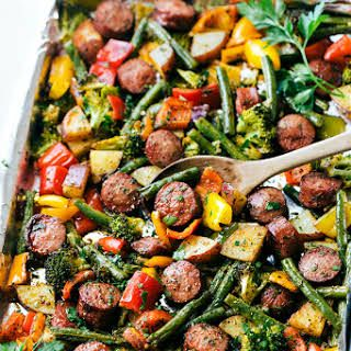 One Pan Healthy Sausage and Veggies #bellpepperrecipes