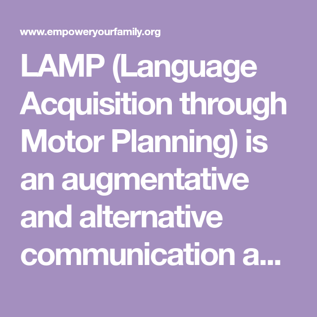 LAMP Words for Life App Review Life app, Motor planning