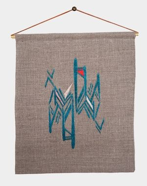 FAYCE TEXTILES / Embroidered Wall Hanging
