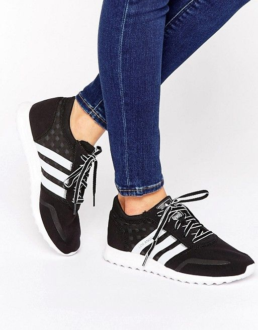 adidas Originals Black And White Los Angeles Sneakers