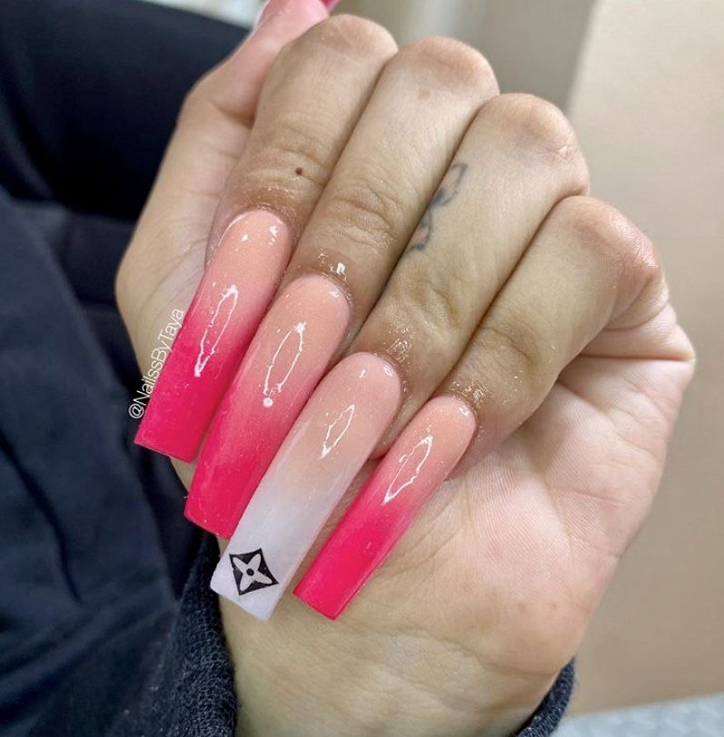 Pin by nia baby on Acrylic Nails | Long square acrylic nails, Tapered square nails, Long acrylic