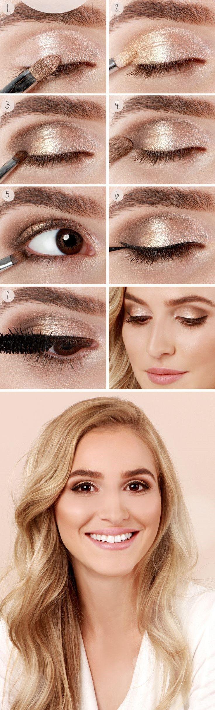 20 Tutoriales de Maquillaje Para ojos Marrones (8)
