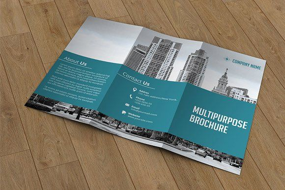 Trifold Corporate BrochureV A Brochure Templates Psd A Size