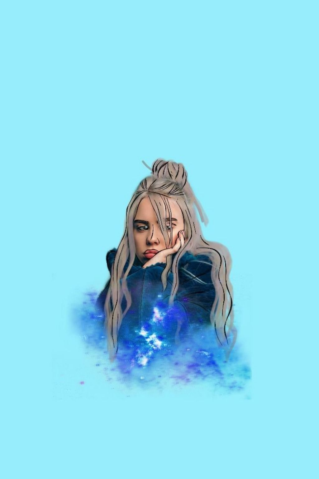 10 Ways To Use Stickers To Flood Your Socials With Billie Eilish Fan Art Create Discover With Picsart Billie Billie Eilish Girls Cartoon Art