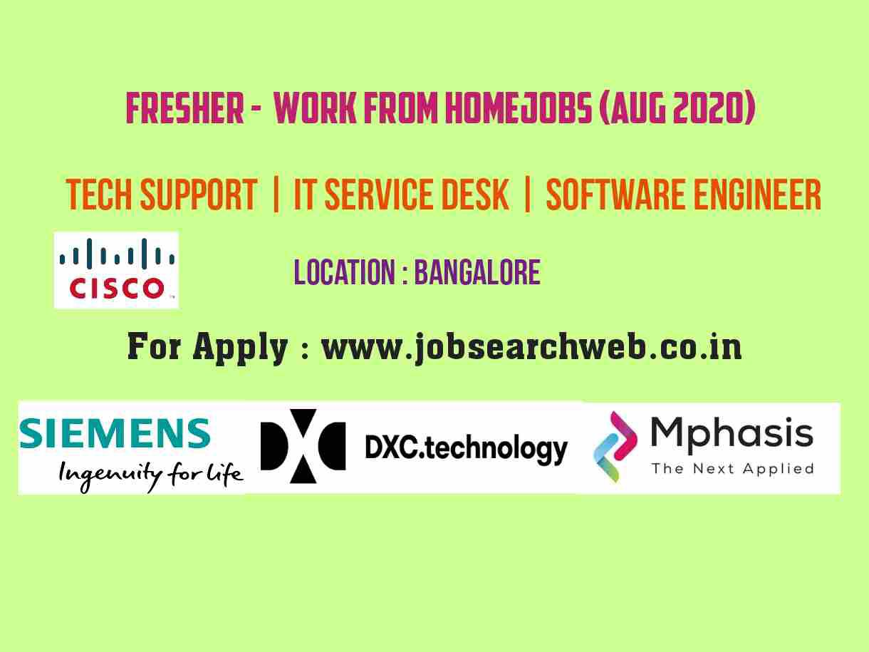 Fresher Jobs Top Mnc Firm Dxc Mphasis Cisco Siemens Hiring Tech Support It Service Desk So Jobs For Freshers Software Engineer Application Problems