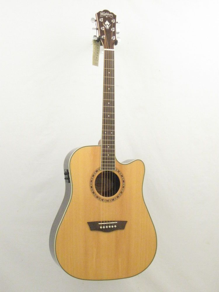 Washburn Model Wd20sce Acoustic Electric Guitar Solid Top Dreadnought Blem 238 Washburn Dreadnought Acoustic Electric Guitar Electric Guitar For Sale Guitar