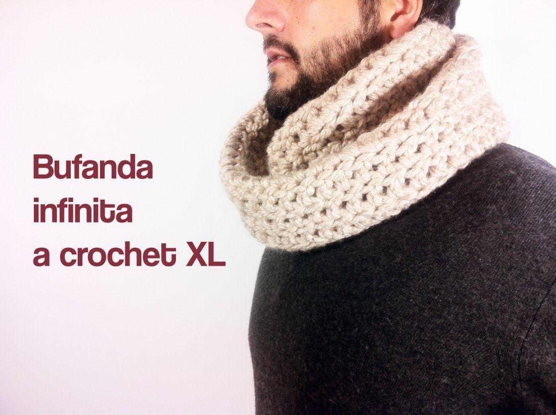Cómo tejer una bufanda infinita a ganchillo. crochet | Moda para ...