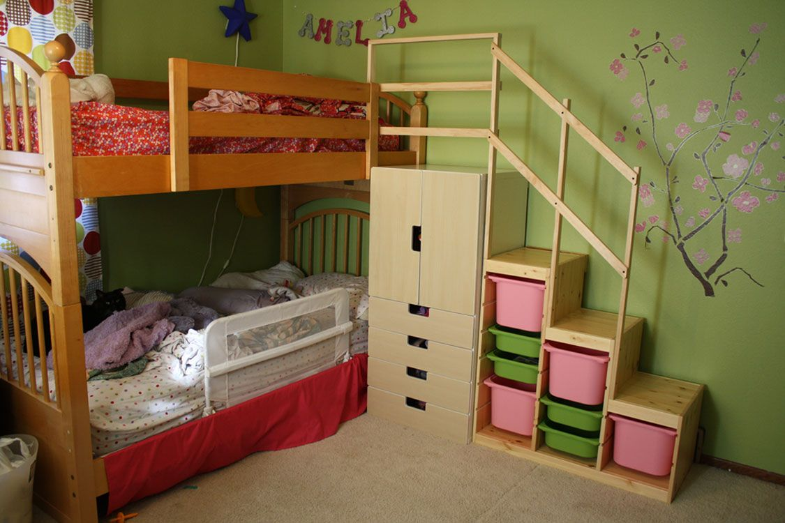 Easy Full Height Bunk Bed Stairs Ikea Hackers Ikea Bunk Bed
