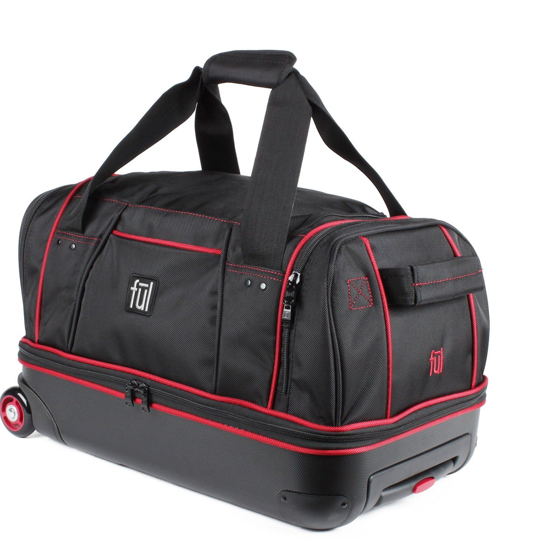 bc290e3fbe37 Flx 21-Inch Retractable Pull Handle Split Level Storage Hybrid Rolling  Duffel Bag