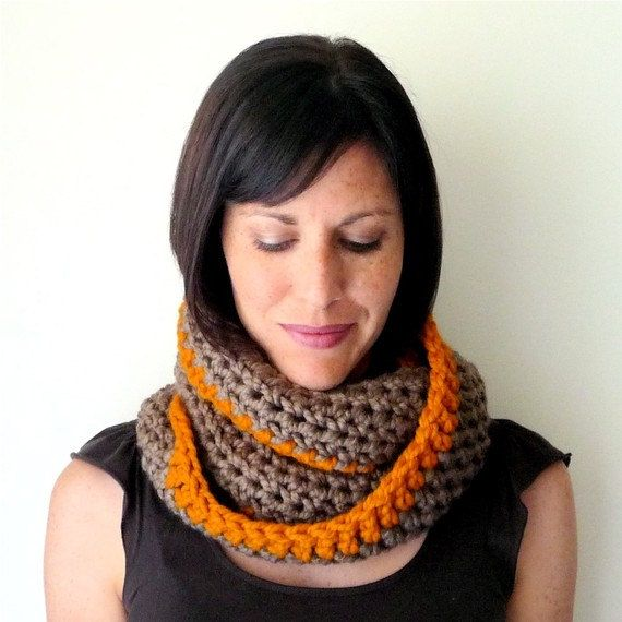 Instant Download Infinity Loop Scarf Crochet Pattern Circle Scarf