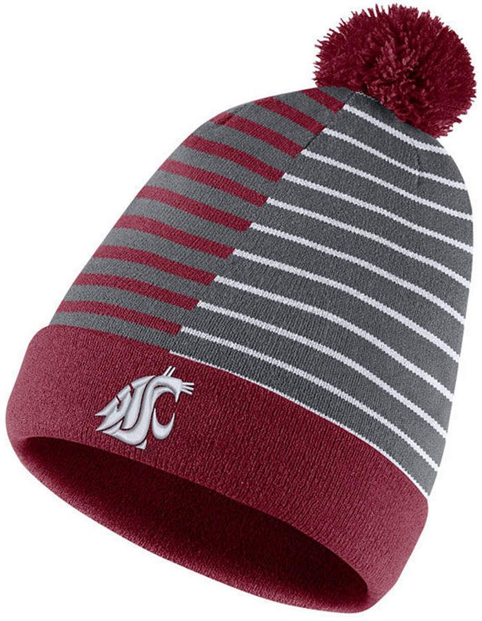 6f3128065 Nike Washington State Cougars Striped Beanie Knit Hat | Products ...