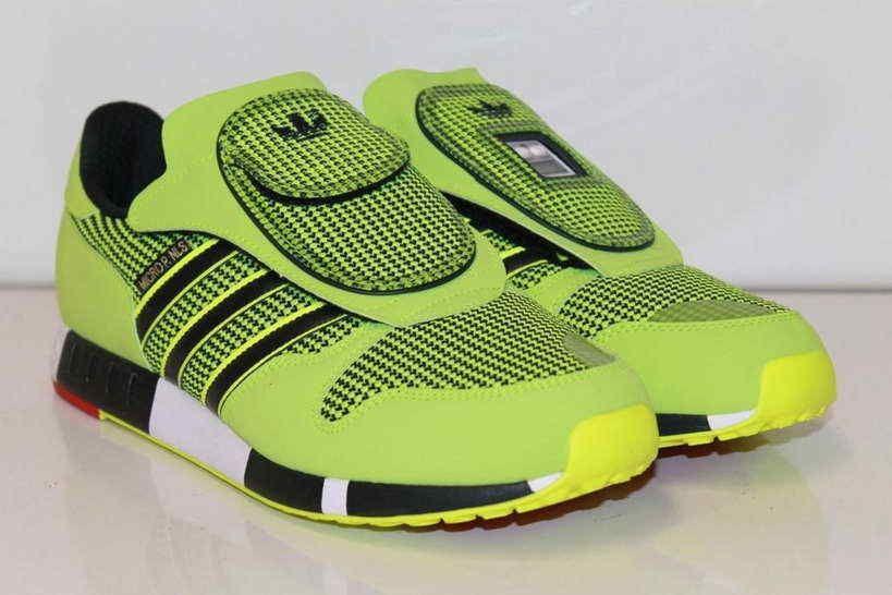 Mode Adidas Micropacer OG S77305 neongrün Sneaker Schuhe