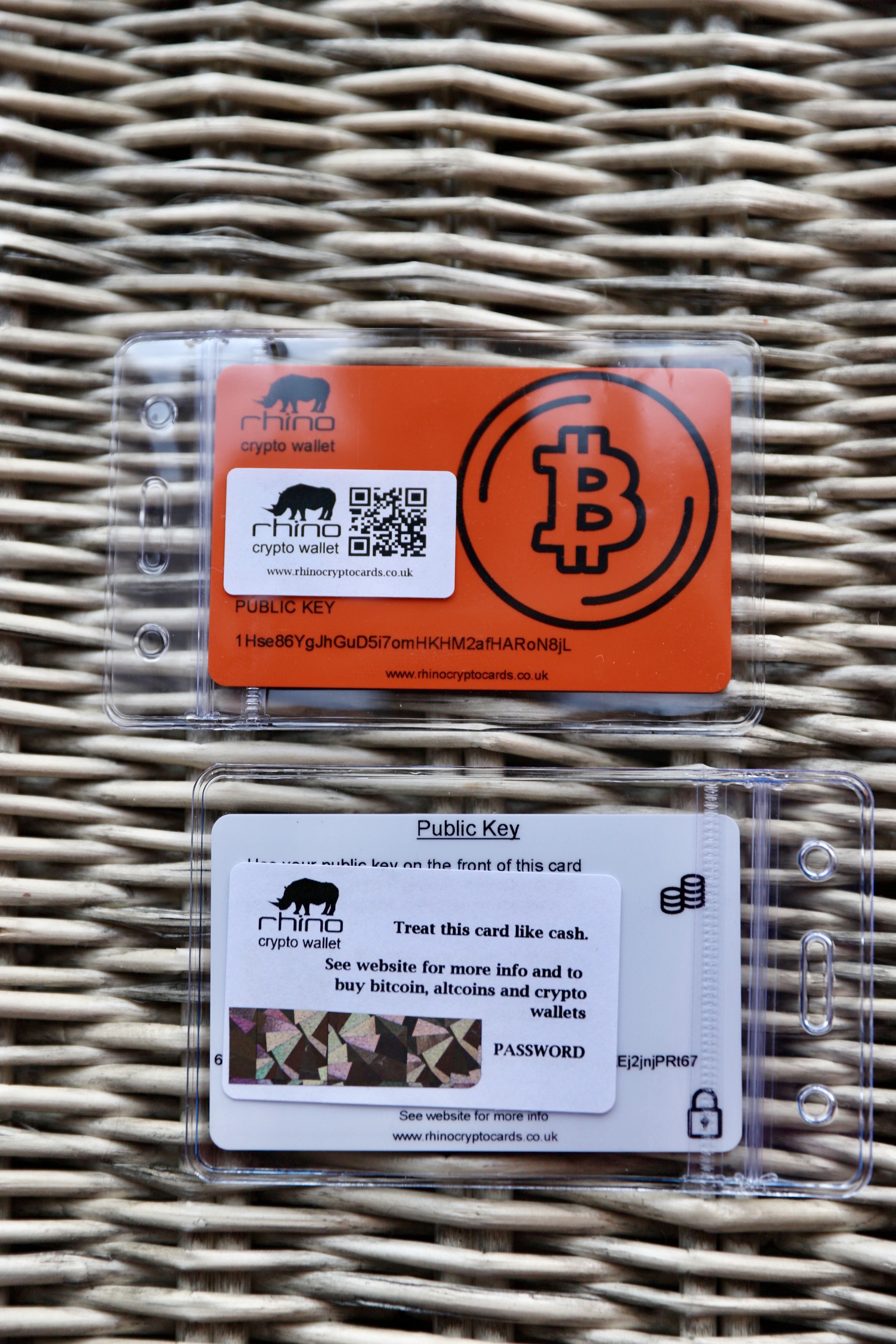 Bitcoin Wallet Card Encrypted With Bip38 Key Card wallet